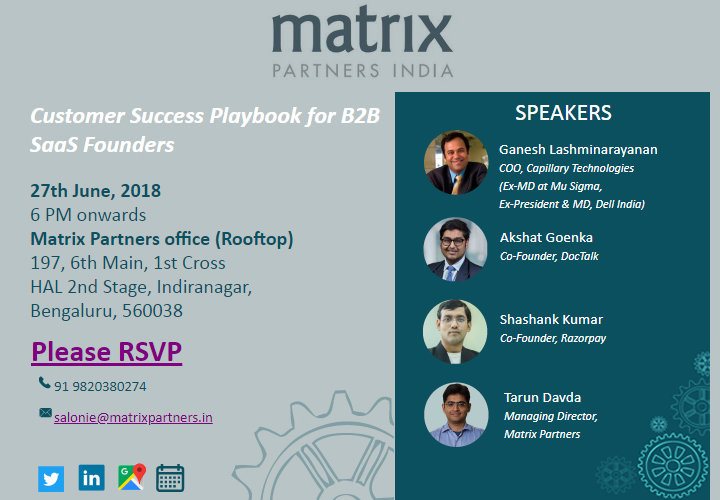 Panel discussion on Customer Success Playbook for B2B SaaS Founders